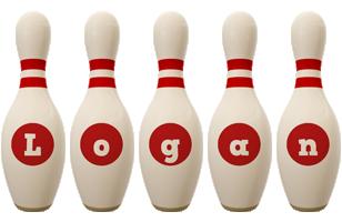 Logan bowling-pin logo