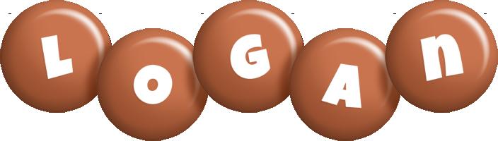 Logan candy-brown logo