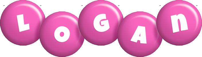 Logan candy-pink logo