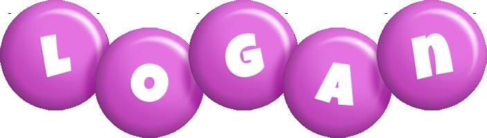 Logan candy-purple logo