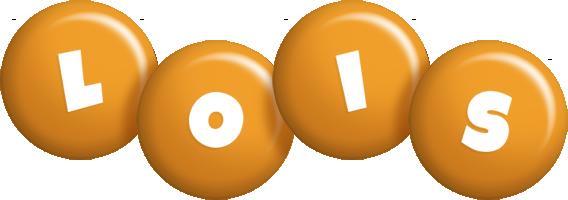 Lois candy-orange logo