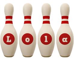 Lola bowling-pin logo
