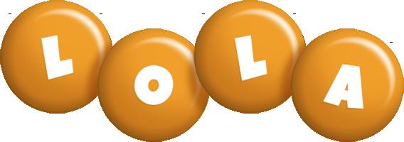 Lola candy-orange logo