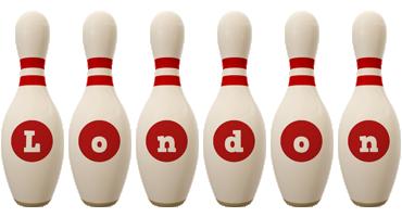 London bowling-pin logo
