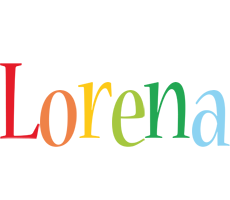 Lorena birthday logo