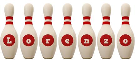 Lorenzo bowling-pin logo
