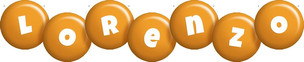Lorenzo candy-orange logo