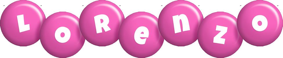 Lorenzo candy-pink logo