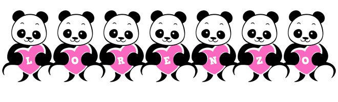 Lorenzo love-panda logo