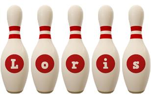 Loris bowling-pin logo