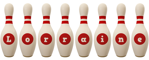 Lorraine bowling-pin logo