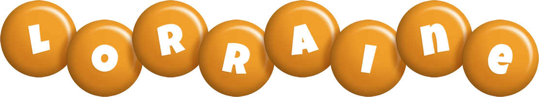 Lorraine candy-orange logo