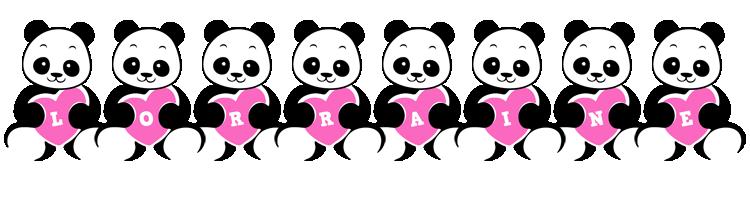 Lorraine love-panda logo