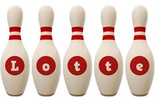 Lotte bowling-pin logo