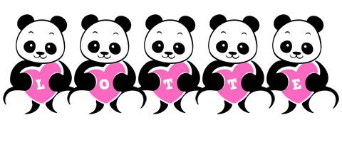 Lotte love-panda logo