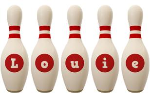 Louie bowling-pin logo