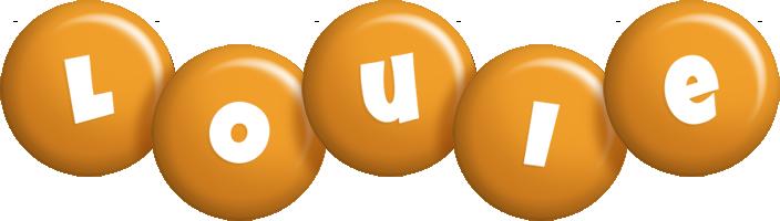 Louie candy-orange logo