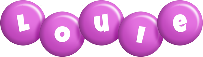 Louie candy-purple logo