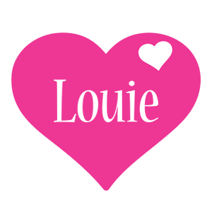 Louie love-heart logo