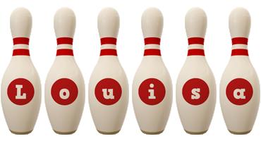 Louisa bowling-pin logo