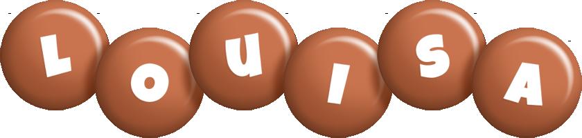 Louisa candy-brown logo