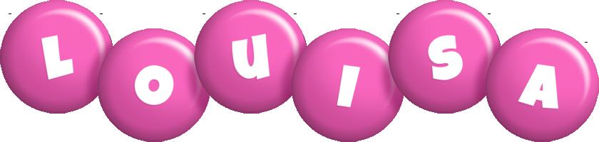 Louisa candy-pink logo