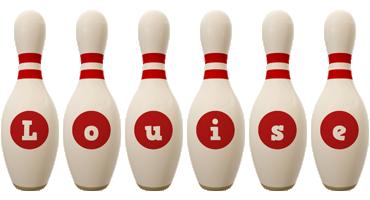 Louise bowling-pin logo