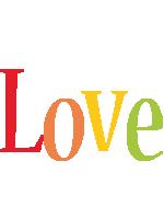 Love birthday logo