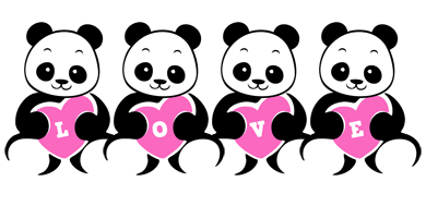 LOVE-PANDA logo effect. Colorful text effects in various flavors. Customize your own text here: https://www.textGiraffe.com/logos/love-panda/