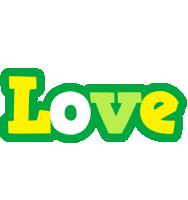 Love soccer logo
