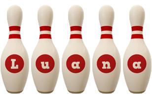 Luana bowling-pin logo