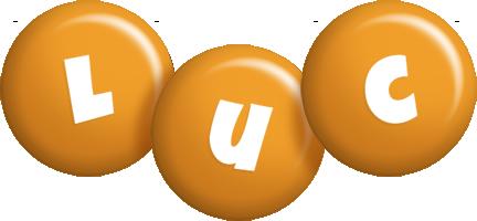 Luc candy-orange logo