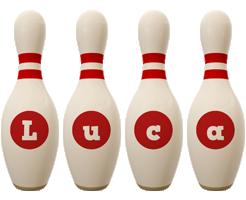 Luca bowling-pin logo