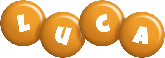 Luca candy-orange logo