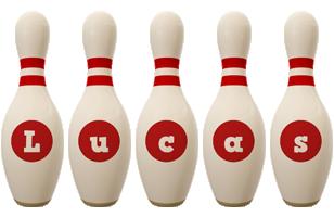 Lucas bowling-pin logo