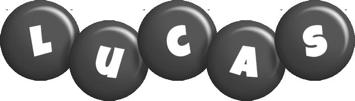 Lucas candy-black logo