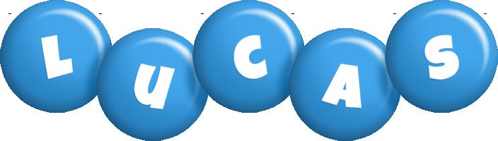 Lucas candy-blue logo