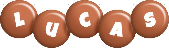 Lucas candy-brown logo
