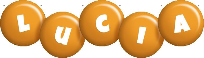 Lucia candy-orange logo