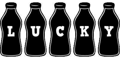 Lucky bottle logo