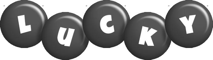 Lucky candy-black logo
