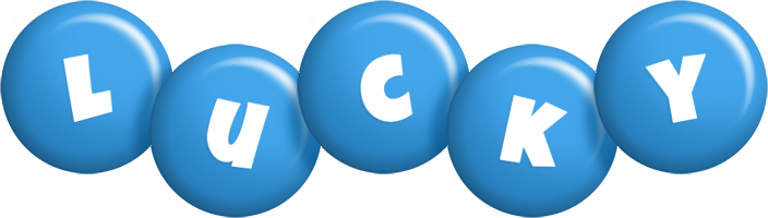 Lucky candy-blue logo