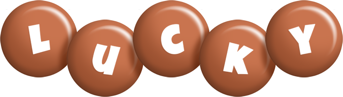 Lucky candy-brown logo