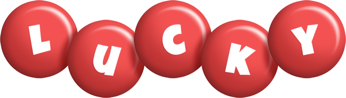 Lucky candy-red logo