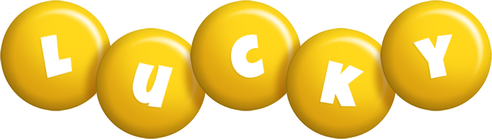 Lucky candy-yellow logo