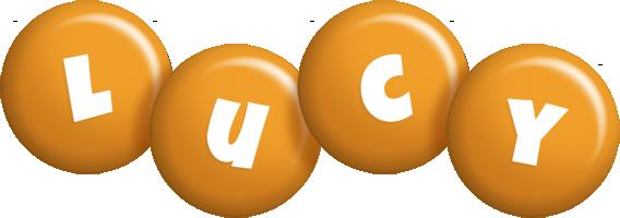 Lucy candy-orange logo