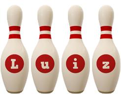 Luiz bowling-pin logo