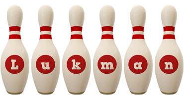 Lukman bowling-pin logo