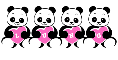 Lung love-panda logo