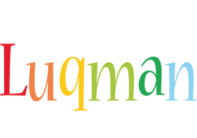 Luqman birthday logo